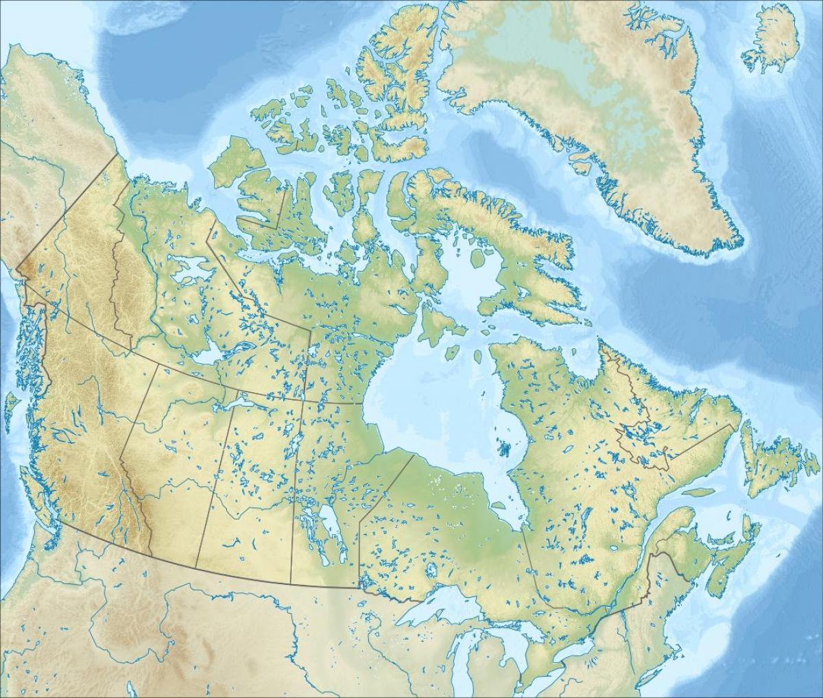 Domborzati Terkep Kanada Terkep Kanada Dombormu Eszak Amerika