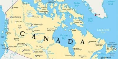 kanada térkép Észak Kanada térkép   Kanada Északi térkép (Észak Amerika   Amerika) kanada térkép